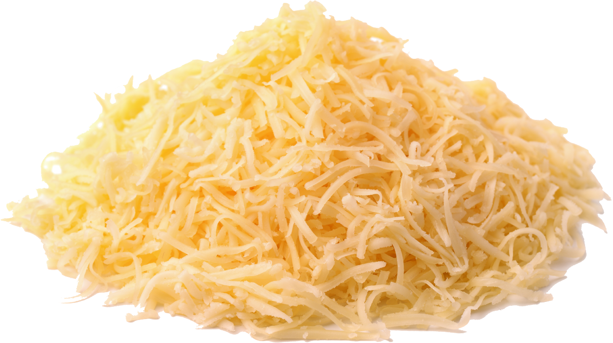 A pile of grated Parmesan cheese